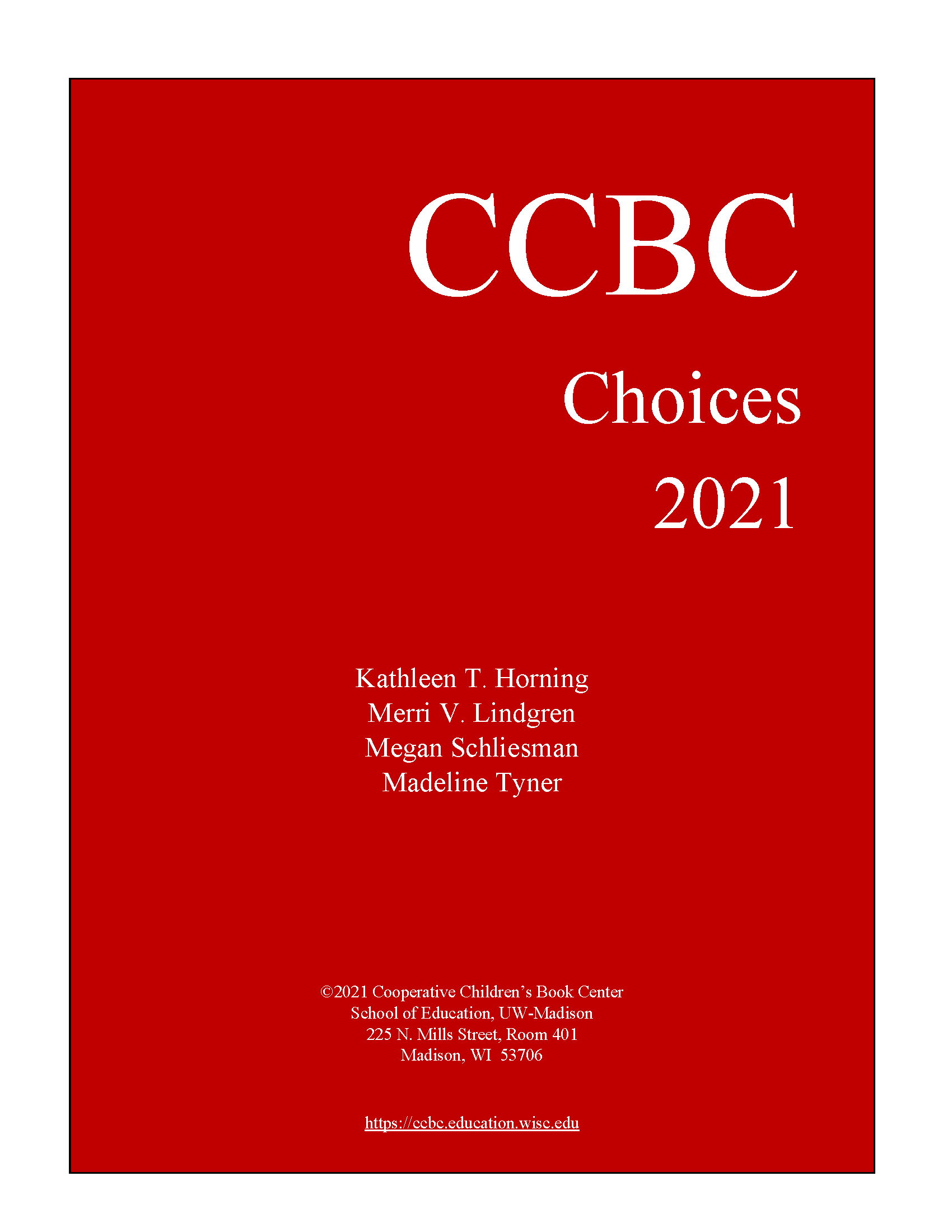 All of a Sudden and Forever among CCBC Children's Choices 2021