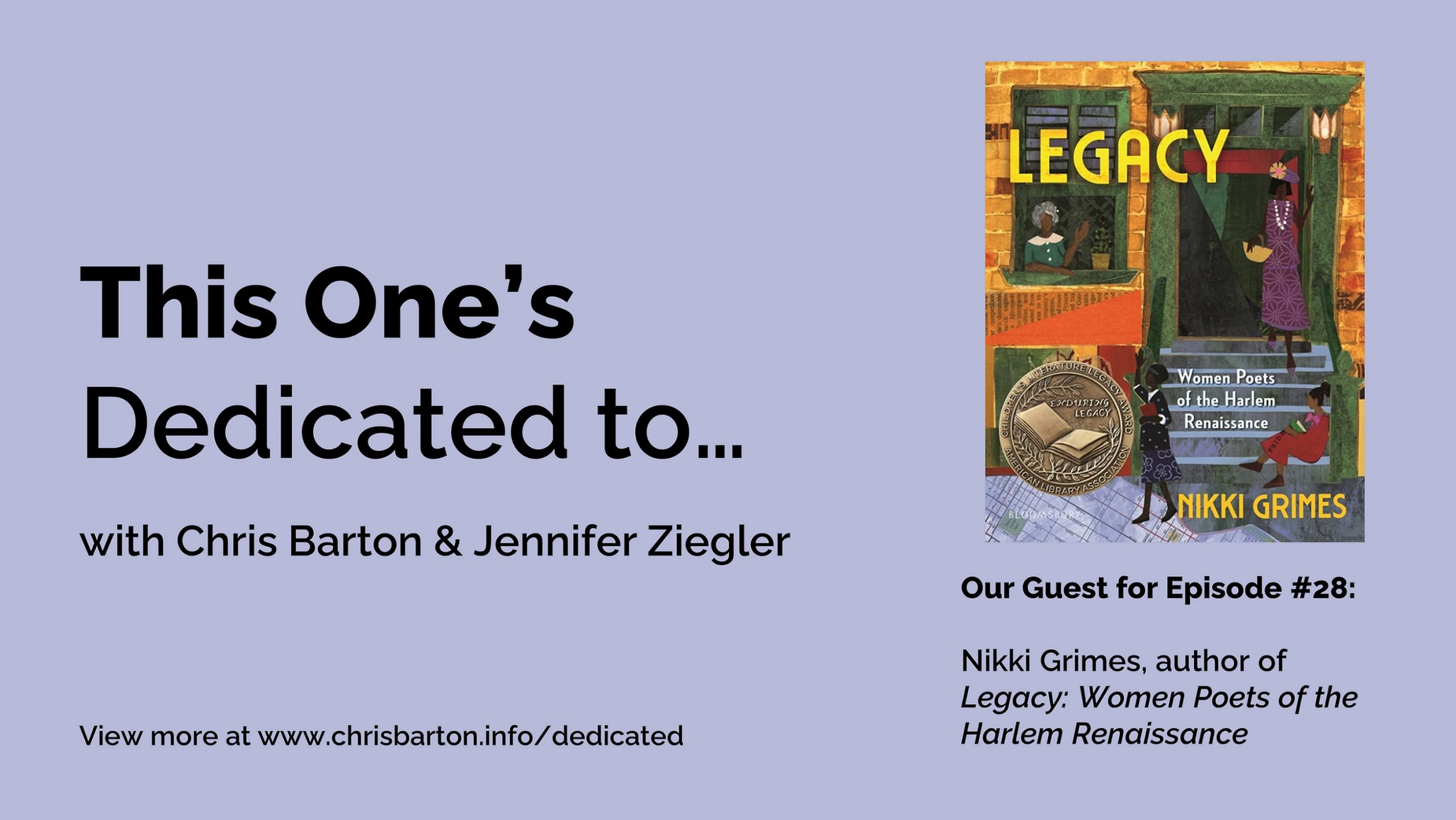 This One's Dedicated to… (#28): Nikki Grimes, Legacy