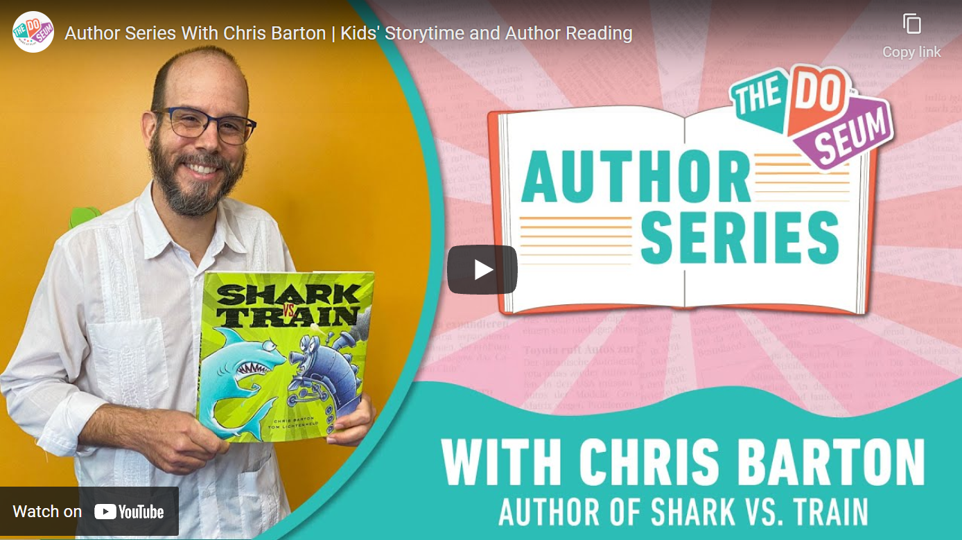 Watch me read Shark vs. Train (with sound effects)!